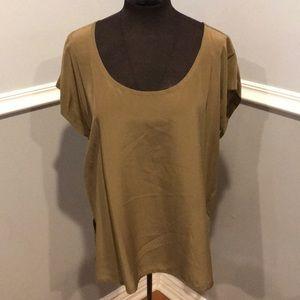 Eileen Fisher silk blend blouse